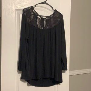 Maurice's Black Lace Top